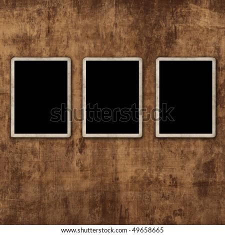 Blank photo frames - stock photo