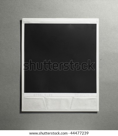 Blank photo isolated on a grey background
