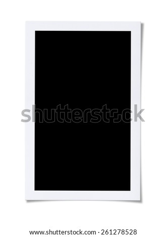 Blank Photo. Isolated on white background with clipping path. - stock photo