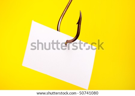 blank piece of paper on hook