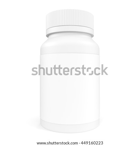Blank Pillbox unlabeled for medicine isolated on white background. 3d illustration
