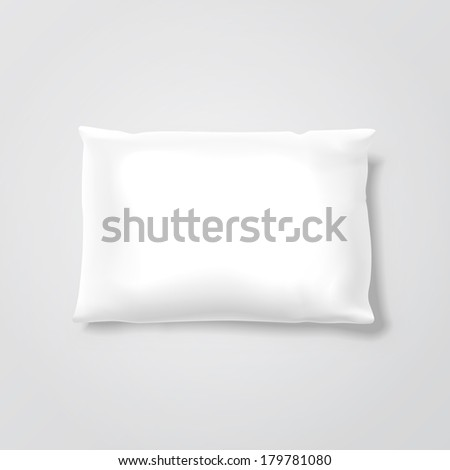Blank Pillow Isolated on Background - stock photo