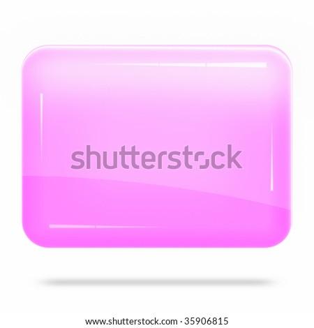 Blank Pink Board Float - stock photo