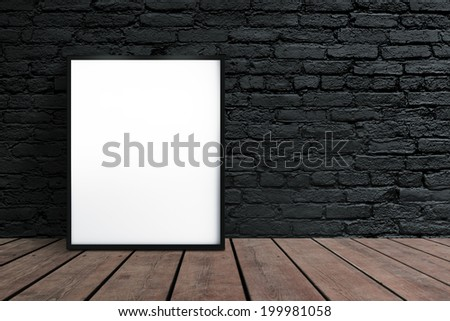 blank placard hanging on wall