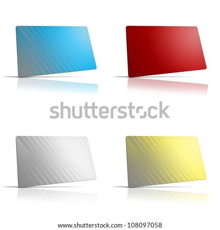 Blank plastic card - stock photo