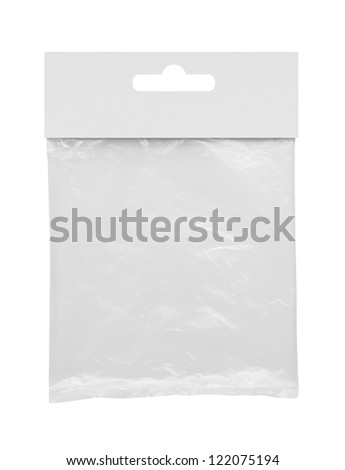 Blank plastic packaging - stock photo