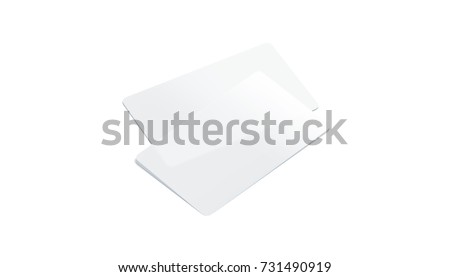 Blank plastic transparent business cards mockup stock illustration blank plastic transparent business cards mockup isolated 3d rendering clear pvc namecard mock up colourmoves