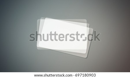 Blank plastic transparent business cards stack stock illustration blank plastic transparent business cards stack mock up 3d rendering clear pvc namecard mockup fbccfo