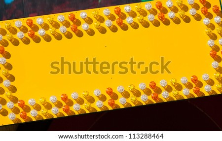 Blank Playland Yellow Sign close up - stock photo
