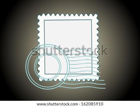 Blank Postage Stamp - stock photo