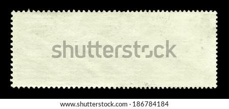 Blank postage stamp background - stock photo