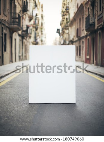 Blank poster on a street - stock photo