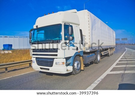 Blank poster ready truck