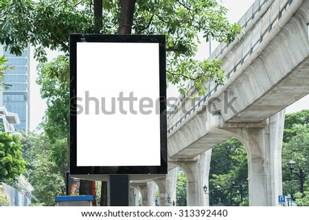 Blank Poster Template in Bangkok, Thailand with clipping path