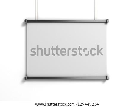 blank presentation board - stock photo