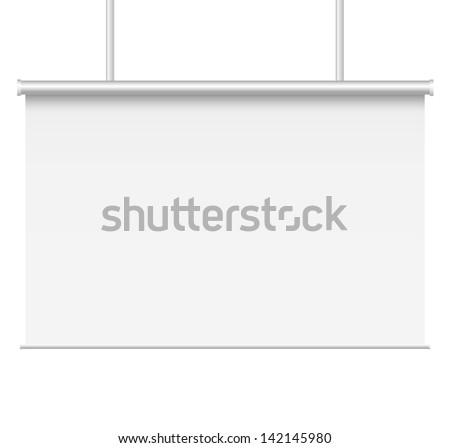 Blank presentation boards. - stock photo