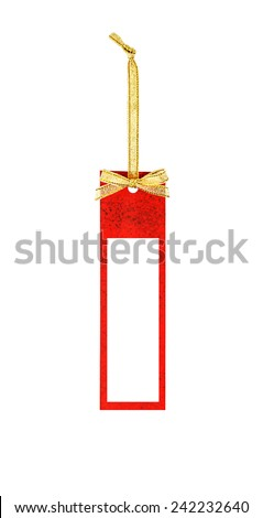blank price label on white background , christmas price label, valentine price label. - stock photo