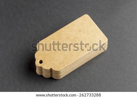 Blank price tags - stock photo