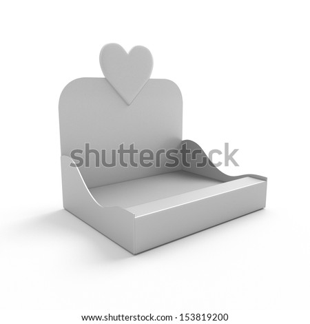 blank product holder with heart - stock photo