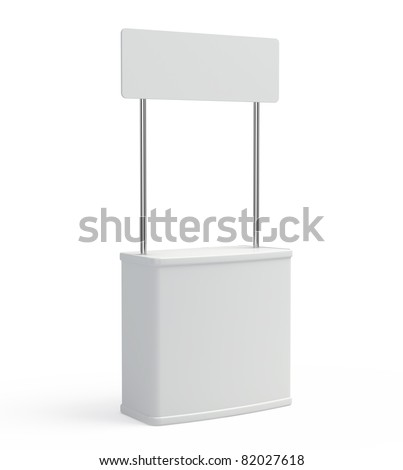 Blank promotion counter - stock photo