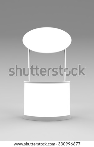 Blank promotion counter mockup