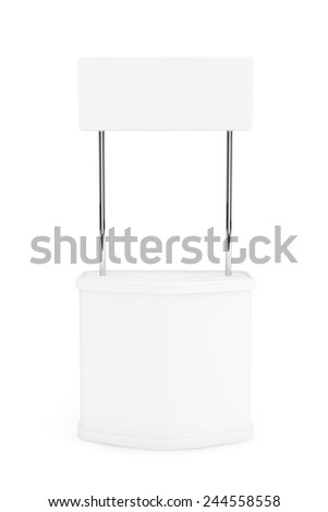 Blank Promotion Stand on a white background - stock photo