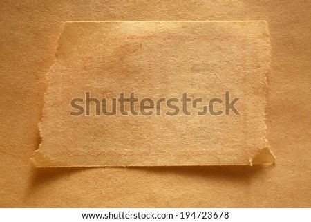 Blank ragged piece of paper