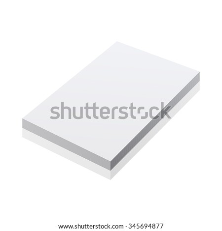 blank realistic notepad notebook isolated on white art