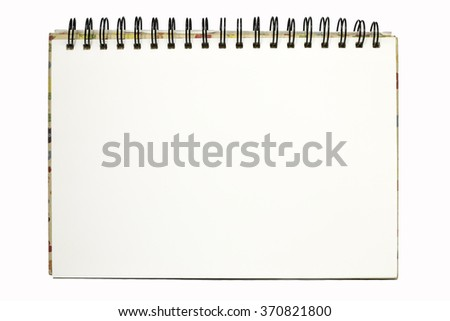 blank realistic spiral notepad notebook isolated - stock photo