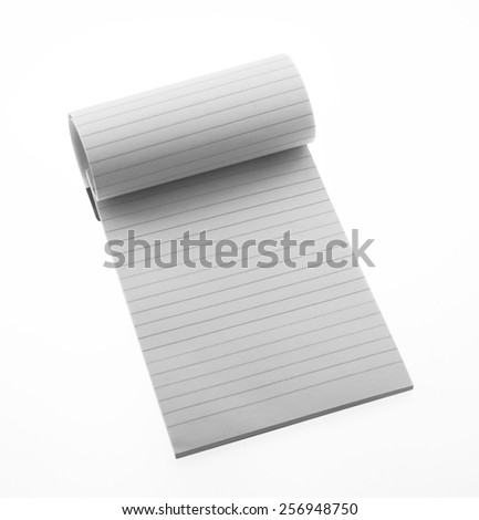 blank realistic spiral notepad notebook isolated on white vector - stock photo