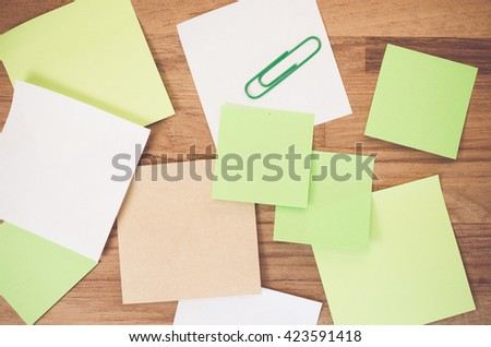 Blank Recycled Paper Memos Clip On Stock Photo   Shutterstock