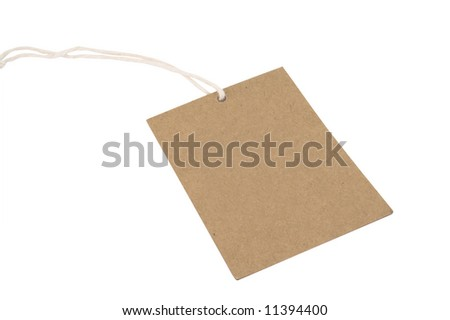 Blank recycled paper price tag