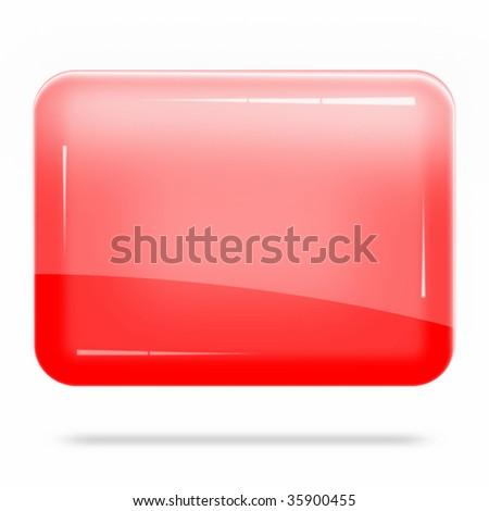 Blank Red Board Float - stock photo