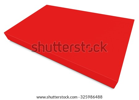 Blank red canvas isolated on white background.