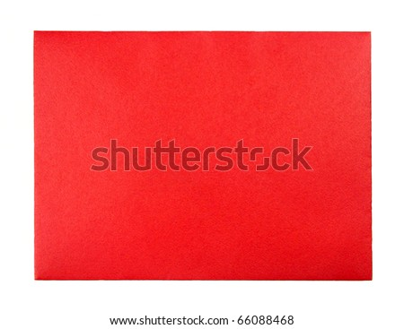 Blank red greeting card envelope with room for text - stock photo