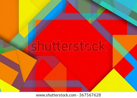 Blank red paper bright background, craft material, design element with place for text - stock photo