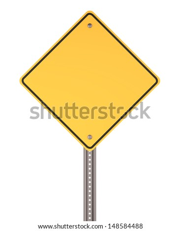 Blank road sign , copy space - stock photo