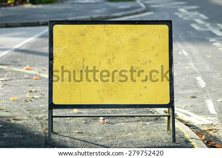 blank road sign for use as copyspace - stock photo