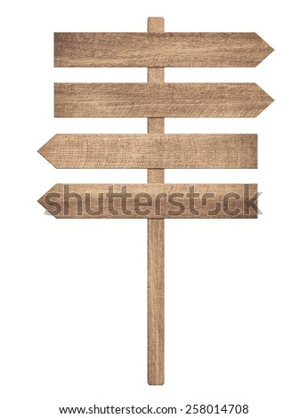 Blank road sign showing the direction of movement - stock photo