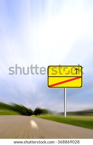 Blank road sign, the entrance - stock photo