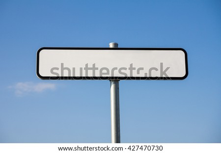 Blank road sign waiting for your text