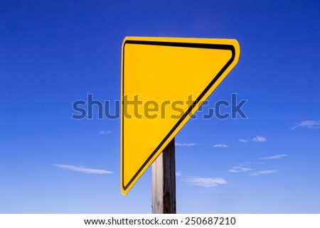 Blank road sign with open space for text. - stock photo