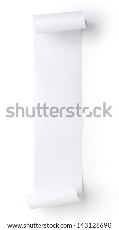 blank roll paper - stock photo