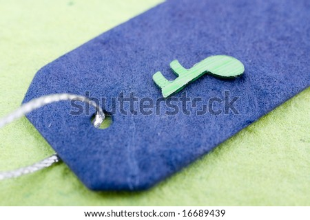 Blank Sale Tags with note