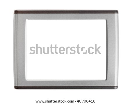 Blank screen isolated on white background - stock photo