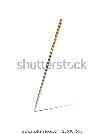 Blank Sewing Needle - stock photo