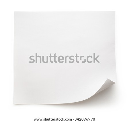 Blank sheet of paper on white background - stock photo