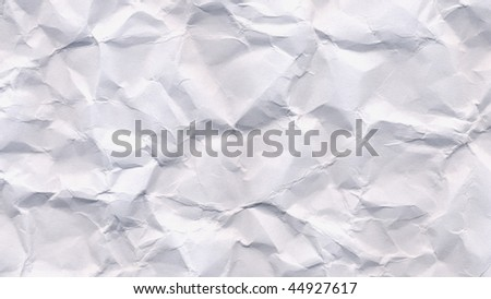 Blank sheet of rippled paper - (16:9 ratio)