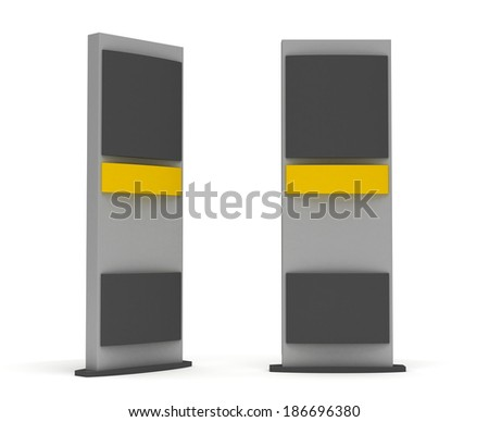 Blank Sign Tower - stock photo