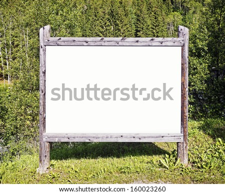 blank sign with space for text